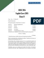English CBSE 2014 Sample Paper - 2