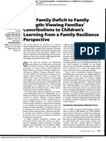 From Family Deficit to Family Strength
