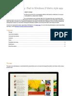 IOS Win8 Design Case Study