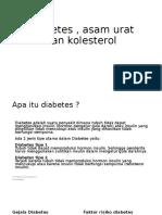 Diabetes kolesterol