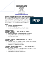 Admin CV