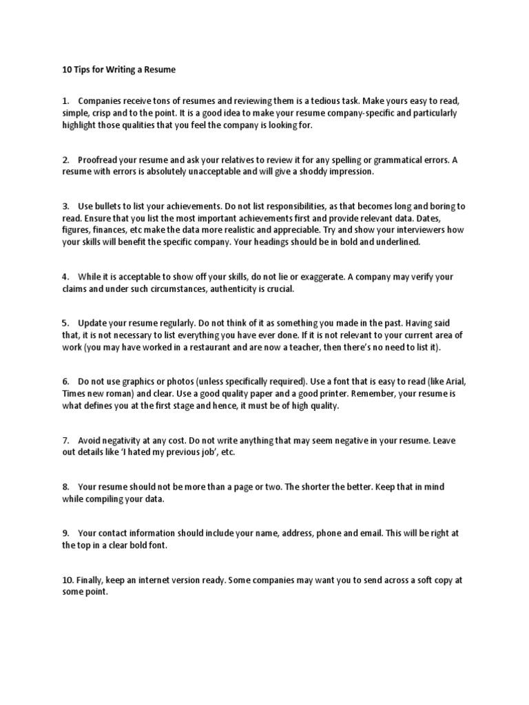 Should I Lie On My Resume - Resume Ideas