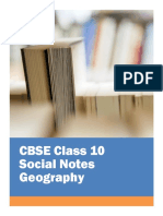 CBSE Class 10 Social Science Geography Notes