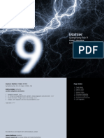 Booklet della sinfonia di Mahler