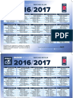 Calendrier Pro d2 2016-2017