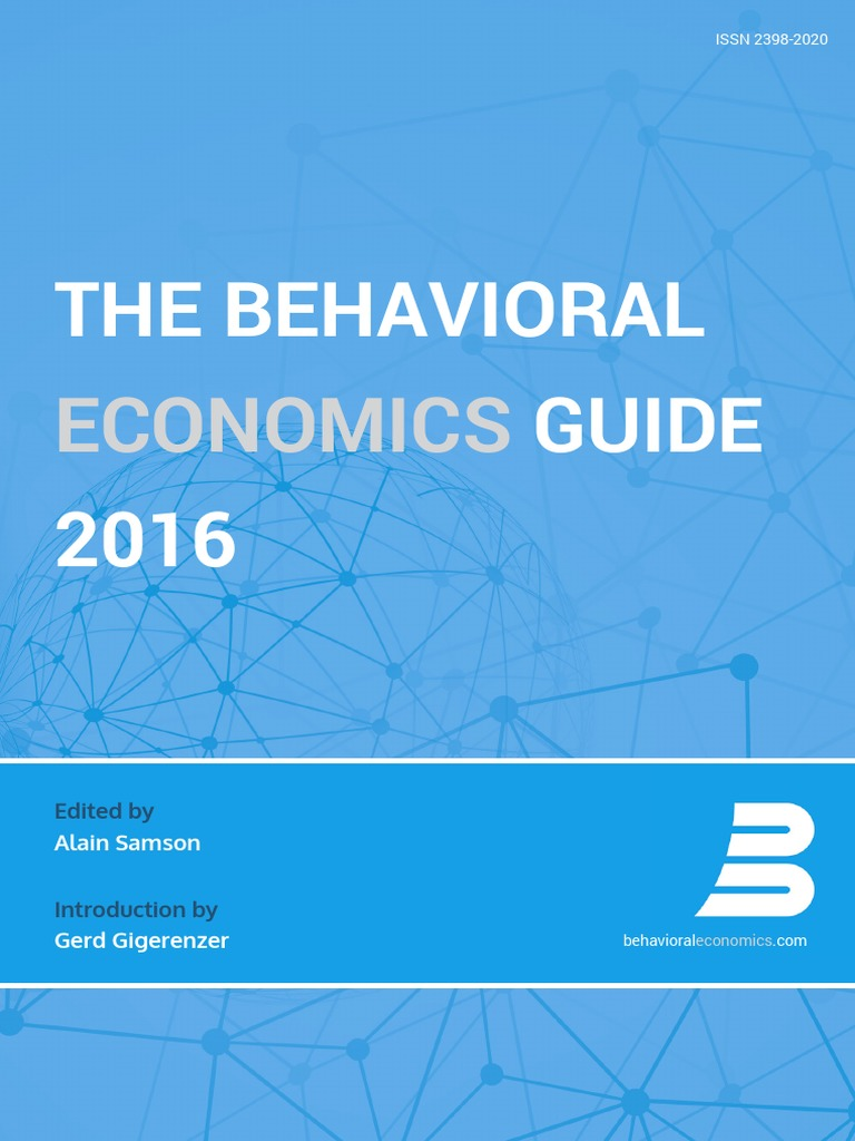 The Behavioral Economics Guide 2016   Heuristics In Judgment And