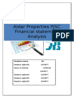 Financial Ratio Analysis Aldar Updated