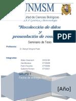 Recolección de Datos y Presentación de Resultados 2013 GyB