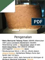 Tema Pembentangan (BM) Batu Bersurat Talang Tuwo 684M