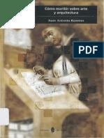 RAMIREZ, J.a. Como Escribir Sobre Arte y Arquitectura PDF