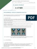 Circunferência, Cônicas e Geometria Analítica