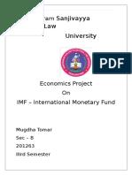 Damodaram Sanjivayya National Law - Economics