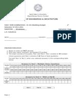 Ce 301 Building Design - First Term Examination