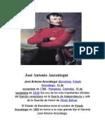 José Antonio Anzoátegui