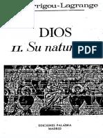 102544167 Dios Su Naturaleza Garrigou Lagrange