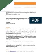 Diversisdad CUltural en La Formacion Del Futuro Profesorado en America Latina