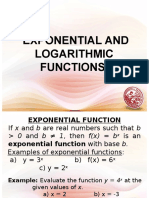 Lesson 11 - Exponential and Logarithmic Functions