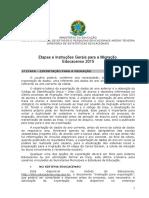 Etapas Instrucoes Gerais Para Migracao Educacenso 2015