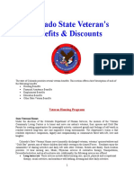Vet State Benefits & Discounts - CO 2016