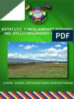 Estatuto y Reglamento Interno Del Ayllu Originario Yanarico
