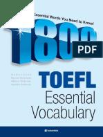 1800 TOEFL Essential Vocabulary