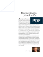 EDITORIAL. Regularización, Planificación