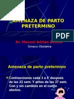 AMENAZA_DE_PARTO_PRETERMINO.Dr[2].ppt