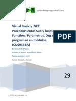 CU00338A Visual Basic Procedimientos Sub y Funciones Function Parametros