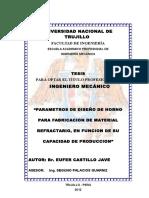 Parametros de Diseño de Horno