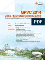 Global Photovoltaic Conference 2014. International Symposium on Photovoltaics (ISP 2014)