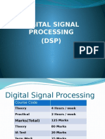 Digital Signal Processing_Syllabus and Other Details