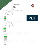 Examen Diario Trigonometria Academia