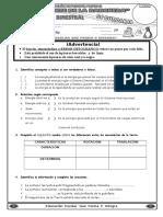 Evaluación Bimestral CTA