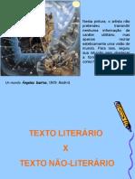1 texto literário e não literário 2