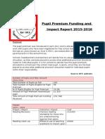 pupil premium report 2015 2016