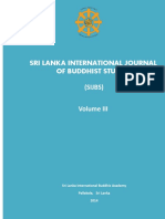 Sri Lanka Journal of International Buddhist Studies Vol III