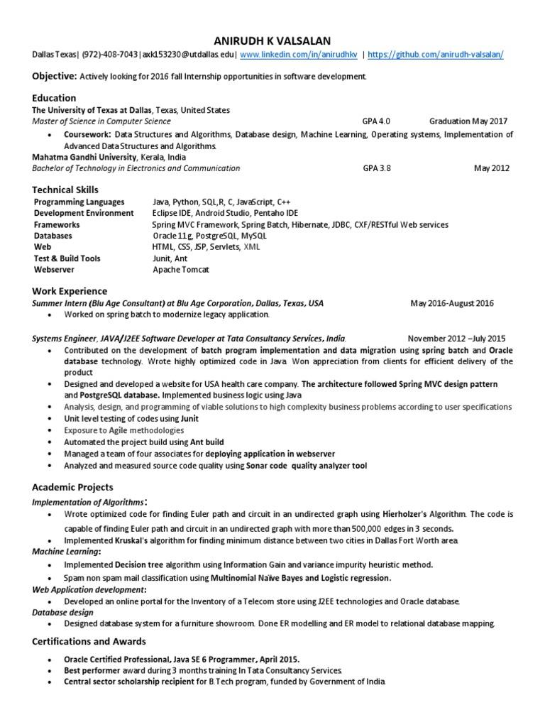 Resume_Anirudh pdf   Spring Framework   Java (Programming Language)