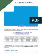Cotizacion Planetario + sist. de proyección