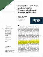 Trends of Social Movements in America - John McCarthy e Mayer Zald