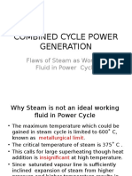 COMBINED CYCLE POWER GENERATION Characterics of Ideal Working Fluid
