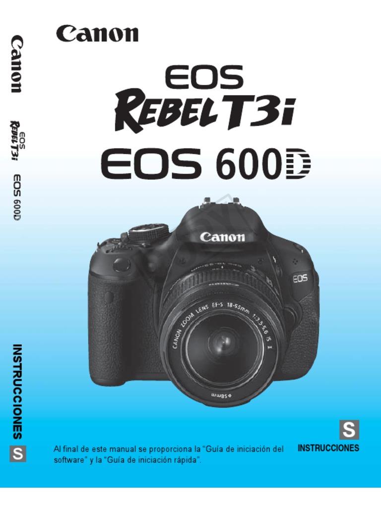 manual canon t3i espanol pdf rh es scribd com Canon EOS Rebel T3i Picture Tutorials Canon Rebel T3i Shoot