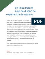 Clases en Línea Para El Aprendizaje de Diseño de Experiencia de Usuario