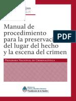 Manual de Procedimiento Para La Preservación Del Lugar Del Hecho y La Escena Del Crimen Programa Nacional de Crimnalística (1)