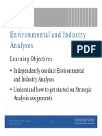 Environment and Industry Analyses