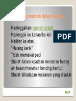 6. Hal-hal Yang Makruh Dalam Shalat