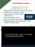 5. Hal-hal Yang Membatalkan Shalat