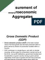 Measurement of Macroeconomic Aggregates