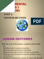 Unit 1 System of Unit