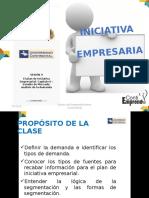 Sesión 9 el plan de iniciativa empresarial - analisis de la demanda y segmentación