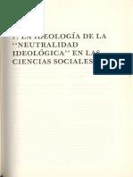Sánchez Vazquez, A. (1983), La Ideología de La Neutralidad Ideológica en Las Ciencias Sociales